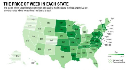 How Much Does Weed Cost In The United States And Canada