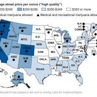 Average marijuana price by state - Chicago Tribune