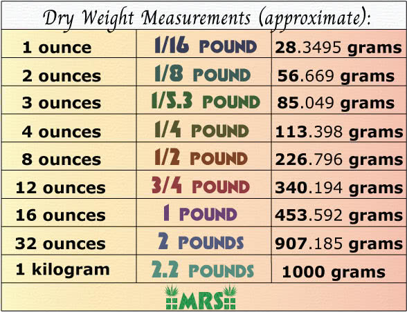 Best Scales for Weed + Weight Measurement Charts   Mold Resistant Strains