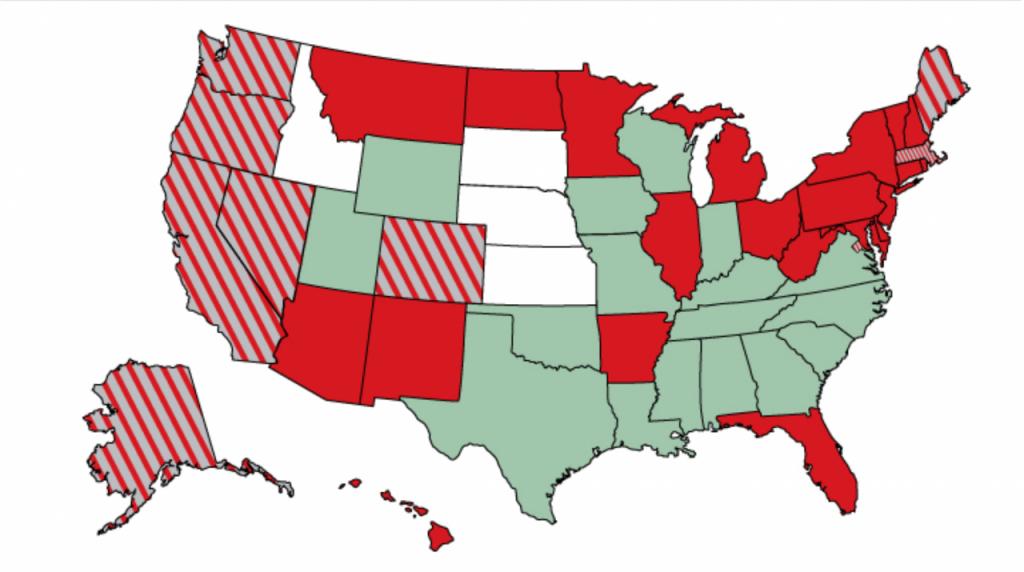 Map of State Marijuana Legalization Laws – Third Way