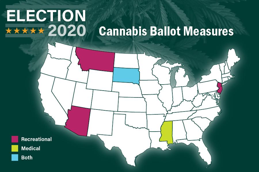 Voters in NJ, Arizona, 3 other states legalize potential .5B-plus  marijuana markets